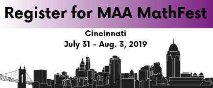 Join us for MAA MathFest!