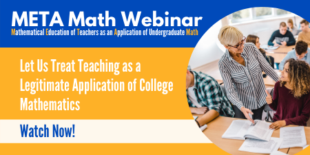 MAA META MathWebinar recording now available!