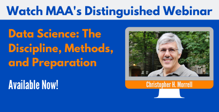 MAA Distinguished Webinar recording now available!