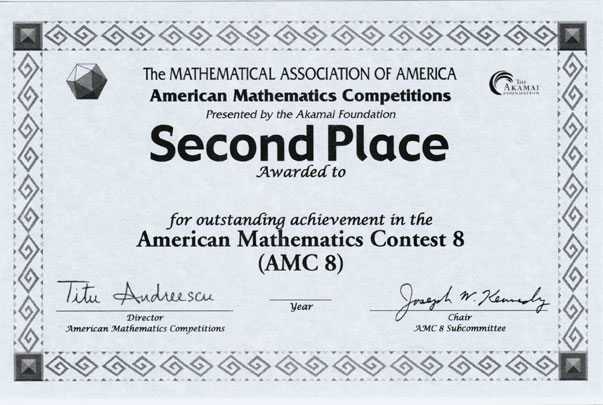 1st place certificate template