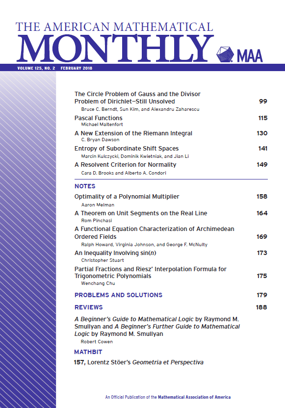 The american mathematical monthly mathematical association of the american mathematical monthly fandeluxe Image collections