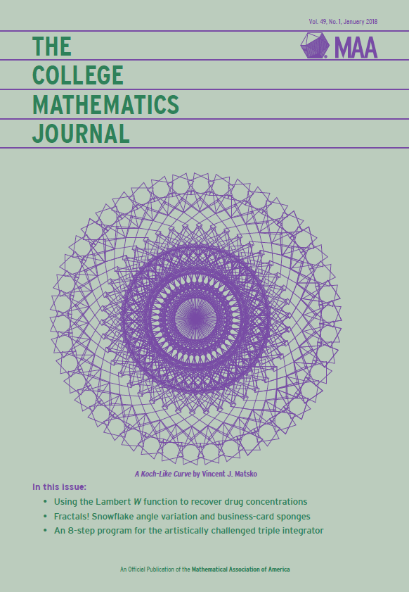 January 2018 College Mathematics Journal Cover