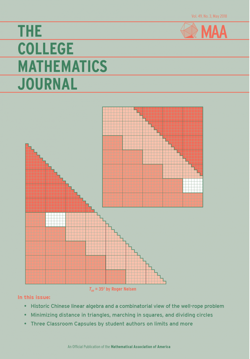 May 2018 College Mathematics Journal Cover