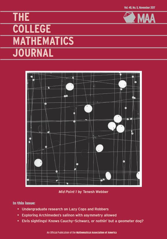 College Mathematics Journal Contents—November 2017 | Mathematical Association of America