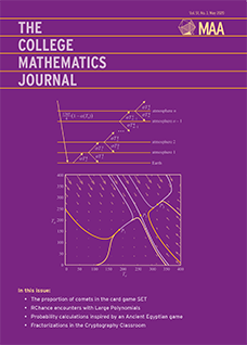 May 2018 Cover College Mathematics Journal