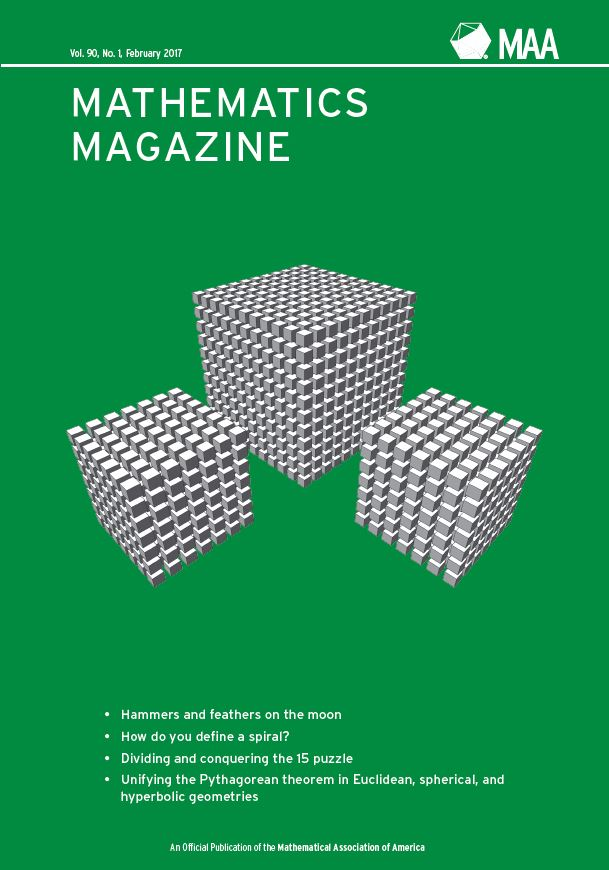 Mathematics Magazine February 2017