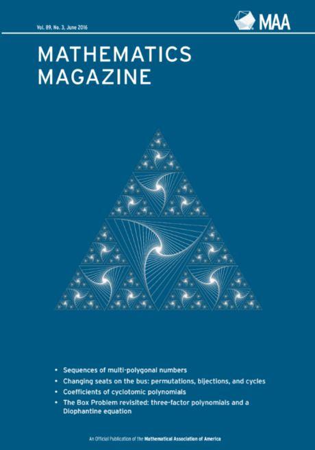 Mathematics Magazine - June 2016 | Mathematical Association of America