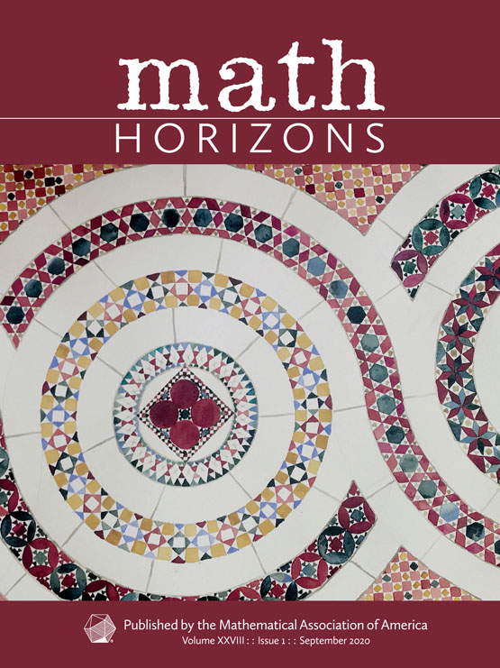Math Horizons September 2020 Cover