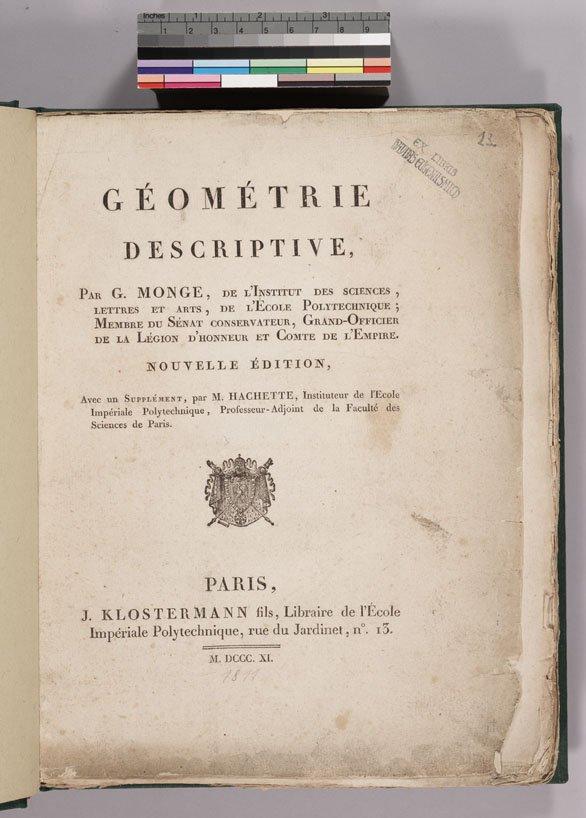 Mathematical Treasures - Gaspard Monge's Descriptive Geometry
