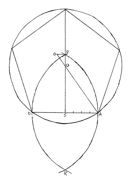 how to draw a regular pentagon in engineering drawing
