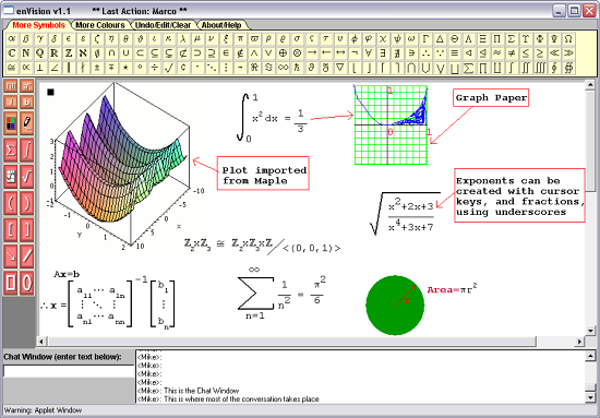 """EnVision: A tool for live web-based communication in the mathematical sciences"" icon"