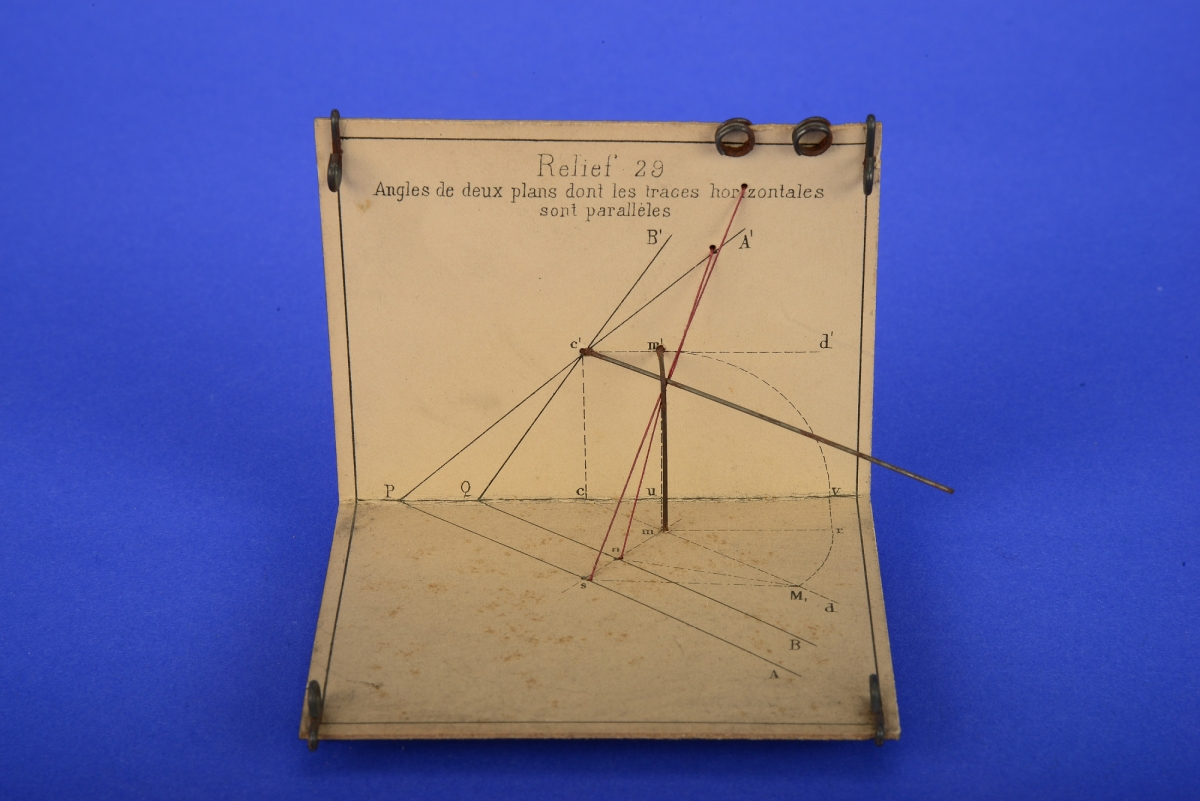 Relief 29, Jullien models for descriptive geometry, circa 1880