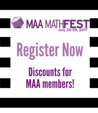 Registration is Open for MAA MathFest!