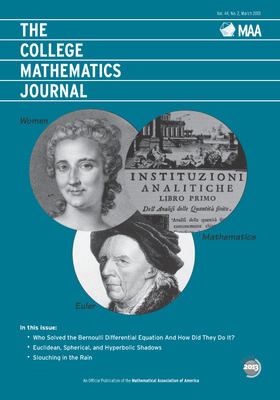 College Mathematics Journal March 2013