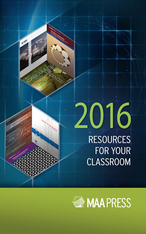 2016 MAA Textbook Catalog