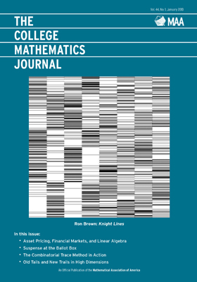 College Mathematics Journal January 2013