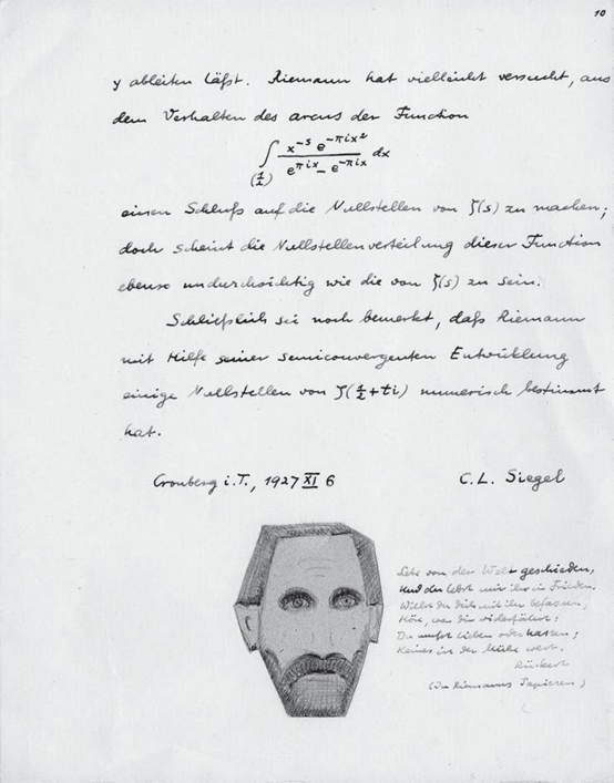 C.L. Siegel article with caricature