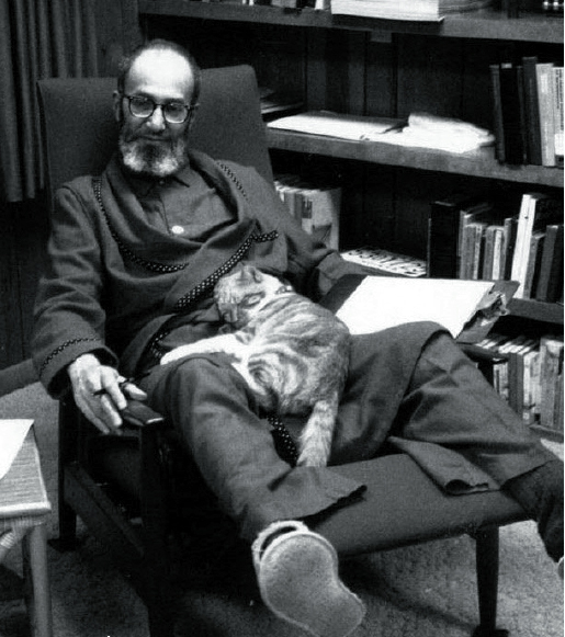 Halmos with cat Roger, 1970
