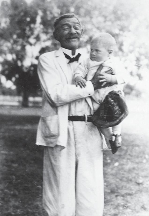 George Bruce Halsted with grandson