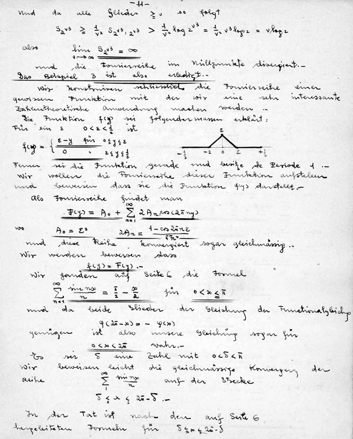 Page from Schoenberg's notebook
