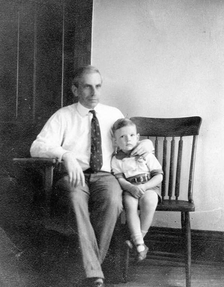 H.S. Vandiver with son