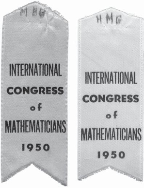 Ribbons from the 1950 International Congress of Mathematicians