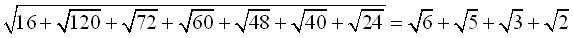 surd equation