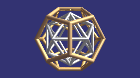 icosahedron and dodecahedron duality with linked animation