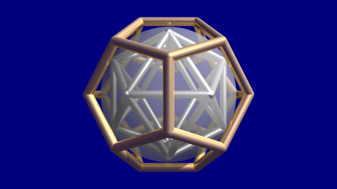 dodecahedron with faces tangent to sphere