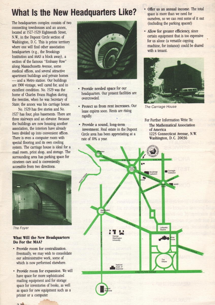 Brochure describing MAA and its then-new headquarters, circa 1970.