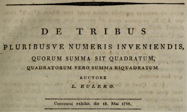 leonhard euler essay The most important of euler's results in diophantine analysis are noted in the  essay of the present collection here we examine these results.