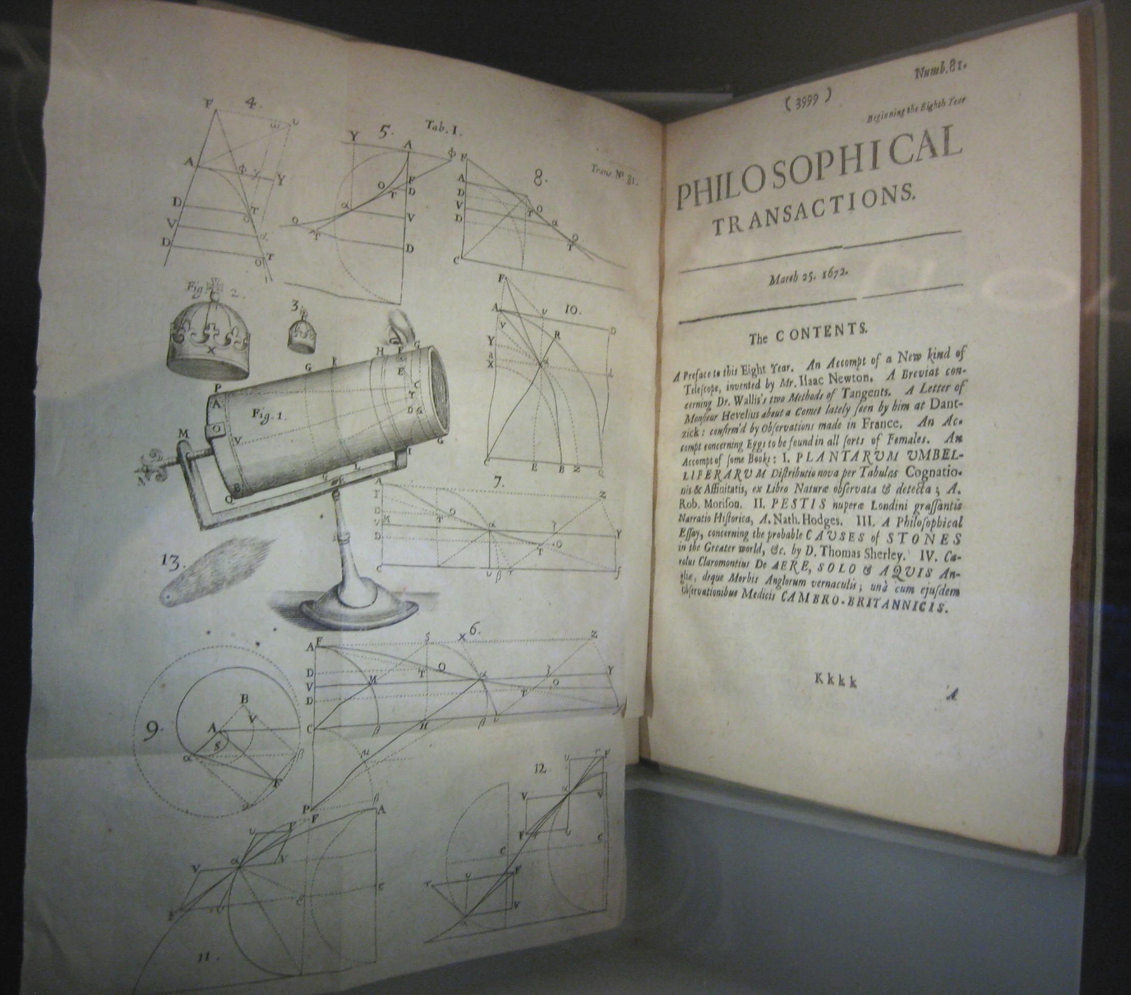 Newton's 1672 An Account of a New Kind of Telescope