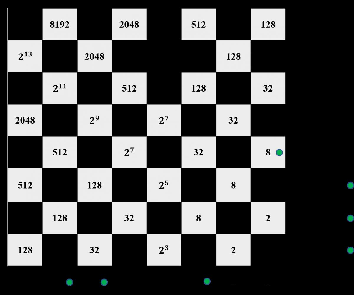 John Napier's Binary Chessboard Calculator - Division