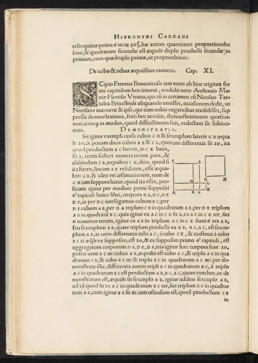Page 29 of Cardano's 1545 Ars Magna.