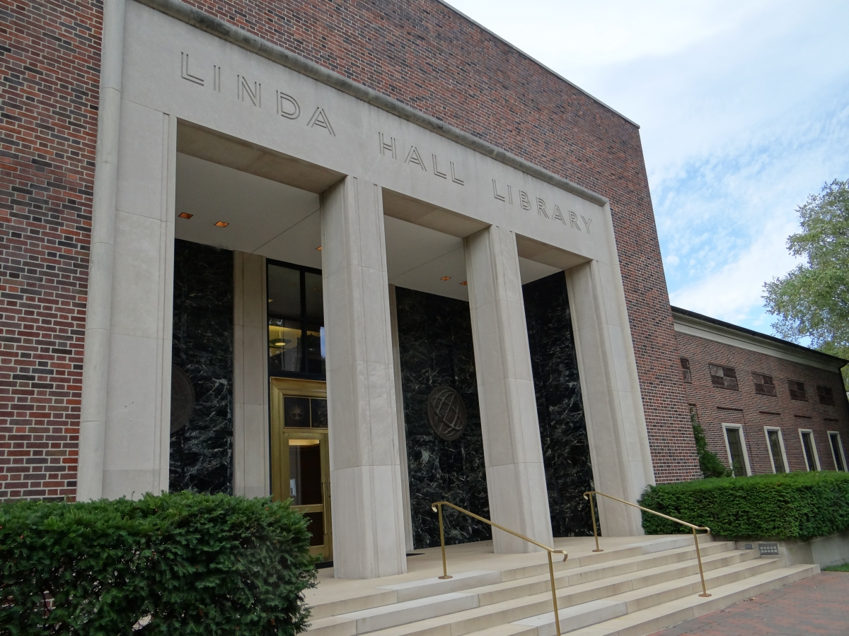 Exterior of Linda Hall Library in Kansas City.