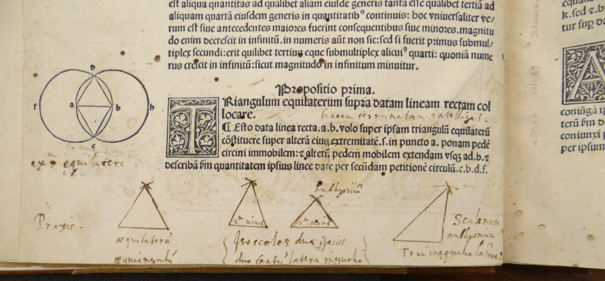 Diagram from 1482 printing of Euclid's Elements.