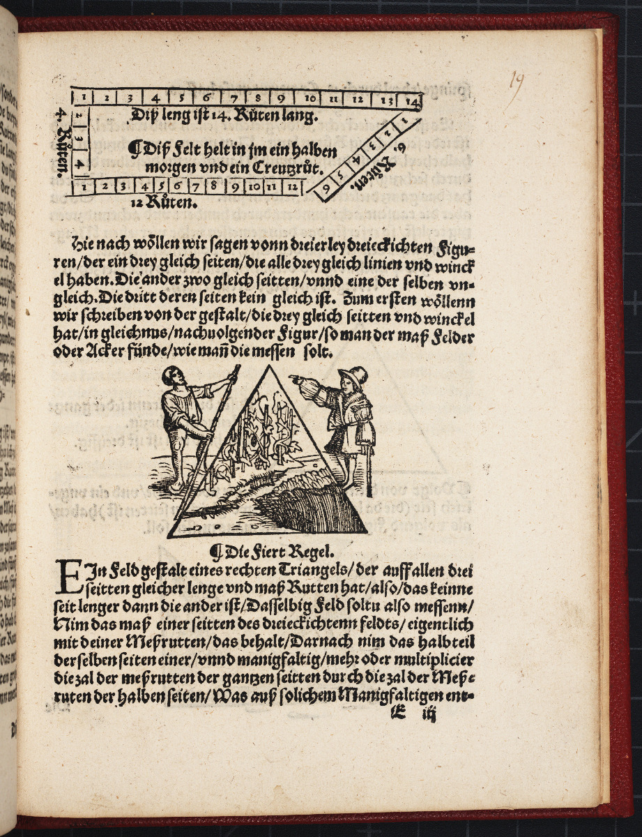 Page from Jacob Köbel's 1535 Geometrei.