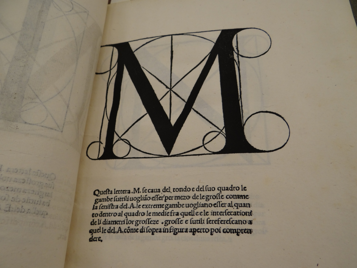 Pacioli's study of the letter M, once used as the Metropolitan Museum of Art's logo.