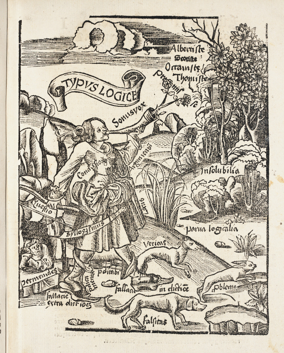 Logic chapter title page from 1517 edition of Gregor Reisch's Margarita Philosophica.