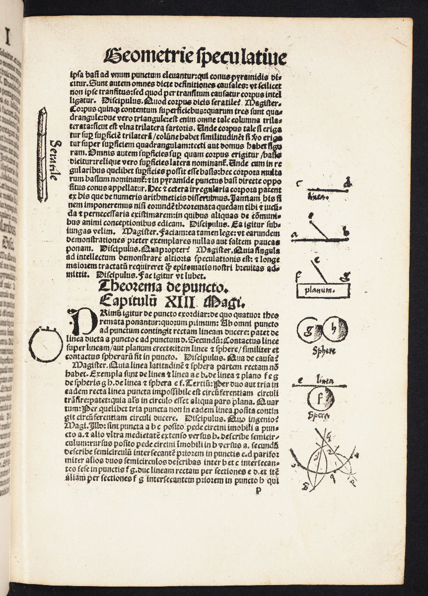 Geometry example from 1517 edition of Gregor Reisch's Margarita Philosophica.