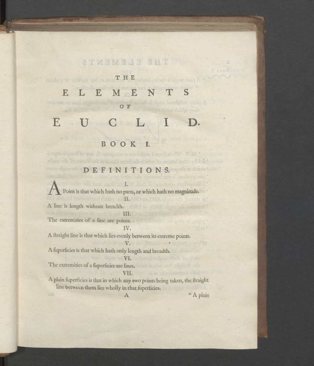 Page 1 of Robert Simson's 1756 The Elements of Euclid.
