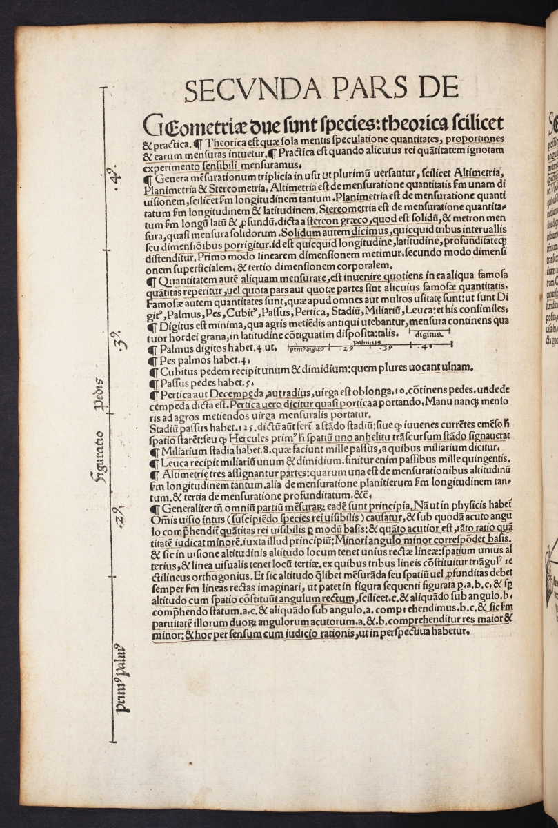 First page of second part of 1524 edition of Johann Stoeffler's Elucidatio fabricae vsusque astrolabii.