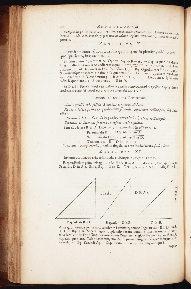 Page 70 from François Viète's Opera Mathematica.