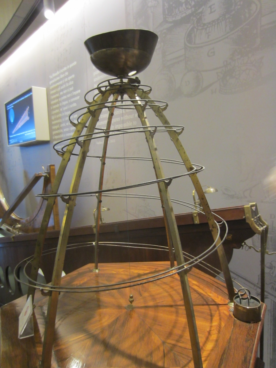 Early modern device illustrating Galileo's law of natural motion.