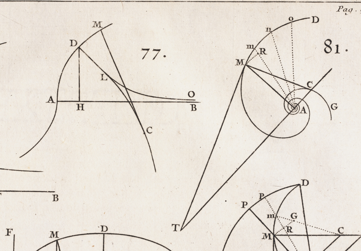Diagrams 77 and 81 from l'Hospital's 1696 calculus textbook.