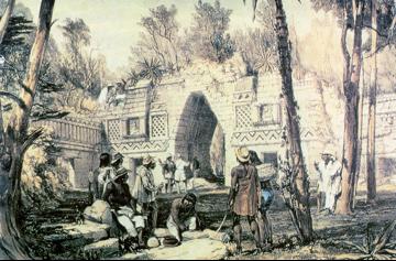 Maya Archaeological Ruins in the Yucatán Peninsula of Mexico