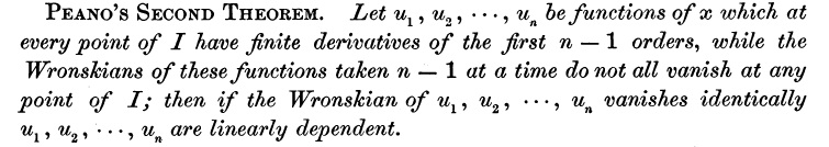 Bocher on Peano's second theorem
