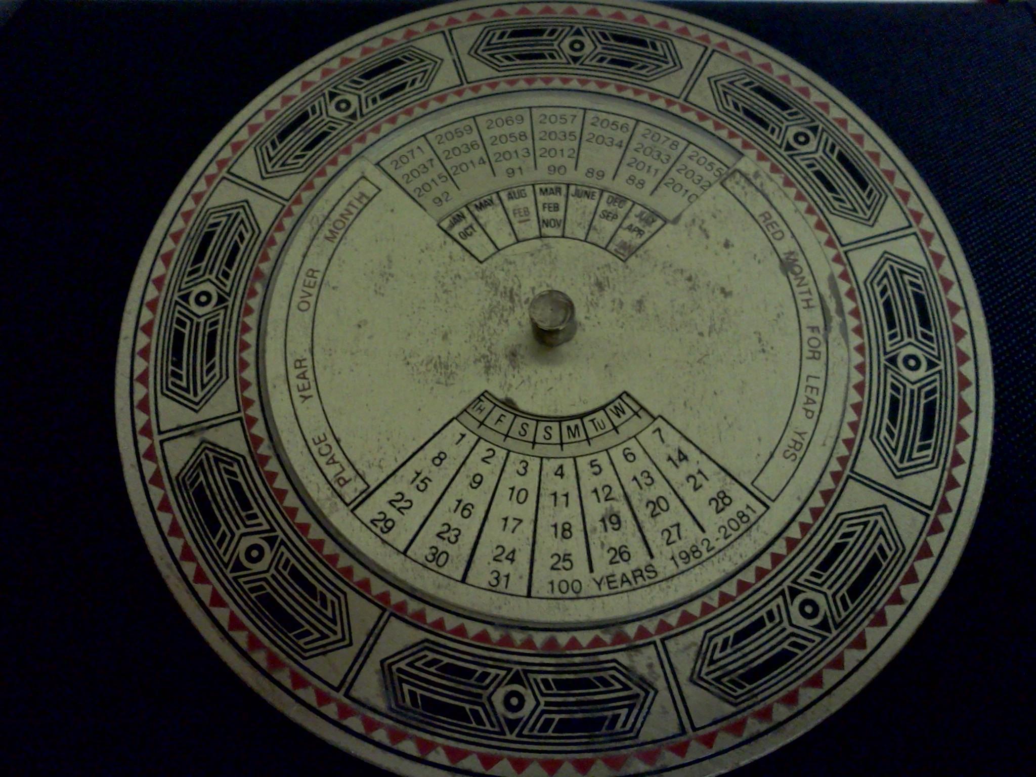 Perpetual Calendar 1800 To 2050 : Servois perpetual calendar with an english translation