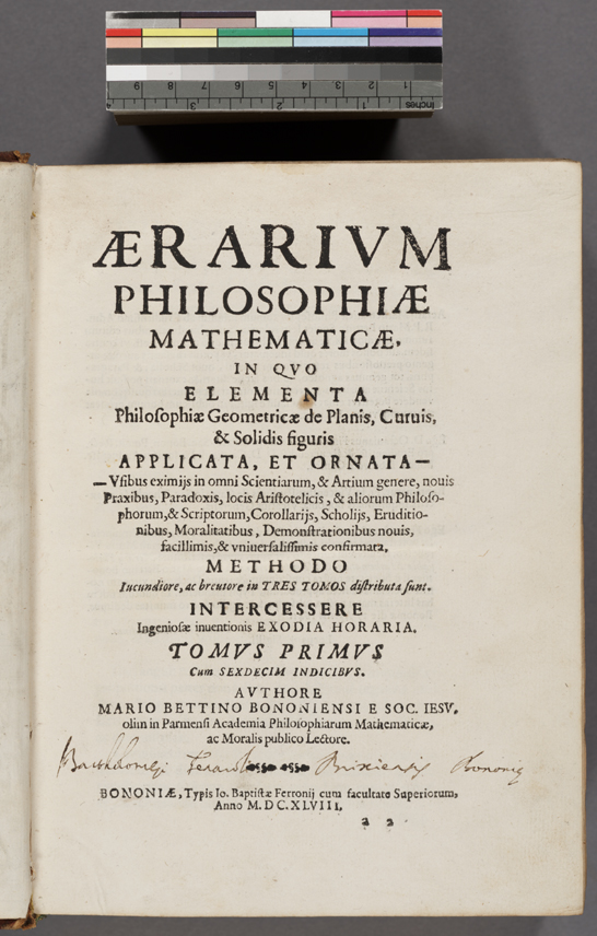 Bettini Title Page