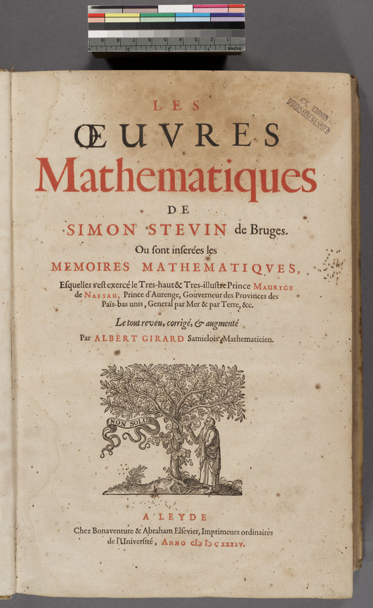 Stevin Title Page